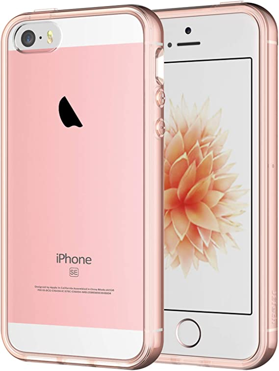 Amazon Com Jetech Case For Iphone Se 2016 Not For 2020 Iphone 5s And Iphone 5 Shockproof Bumper Cover Anti Scratch Clear Back Rose Gold