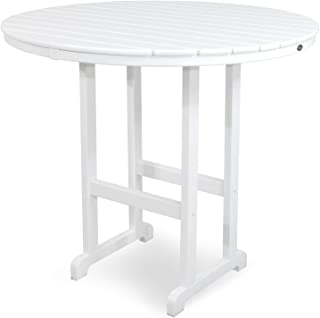 product image for Trex Outdoor Furniture TXRBT248CW Monterey Bay Round Bar Table, 48-Inch, Classic White