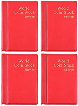 Coin Collection Album Book Holder for 120 Coins Lot of 4 Gastro Club