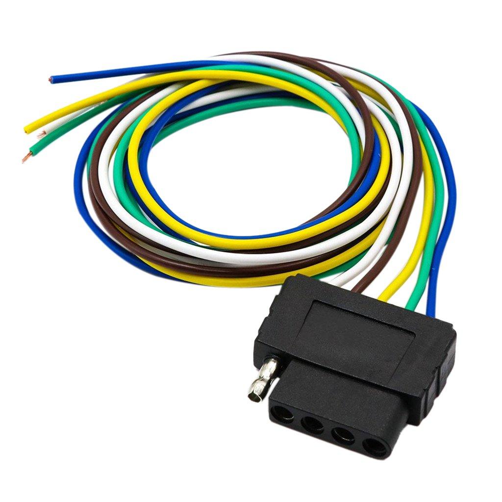 monkeyjack 5 Wayフラットトレーラー配線ハーネス拡張子コネクターソケットwith 36インチケーブルUS 960mm 2fc8e734781568efe5ac98b8f33c3dcf B076SWQ2RC  ブラック2 960mm