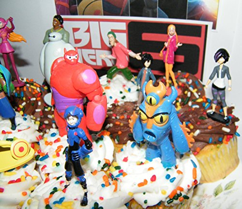Disney Big Hero 6 Figure Cake Toppers Cupcake Party Favor Import