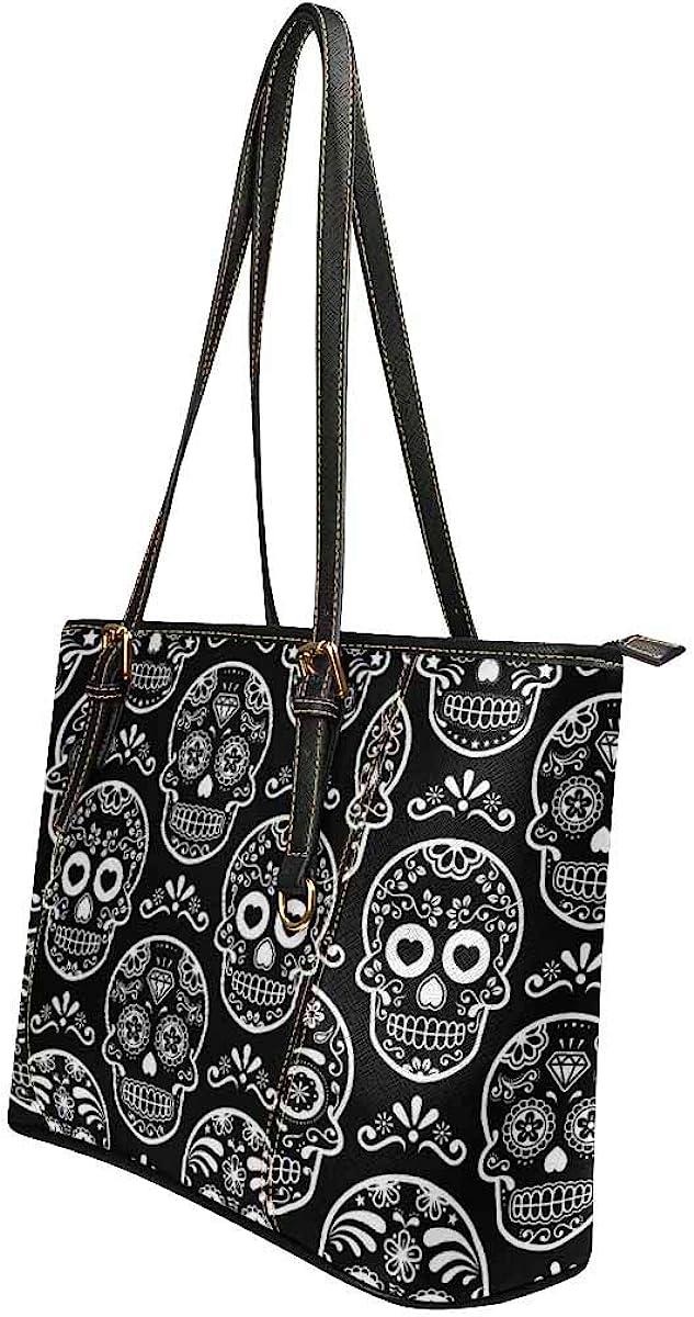 INTERESTPRINT Halloween Skull/&Plant Purses and Handbags for Women Satchel Shoulder Tote Bags