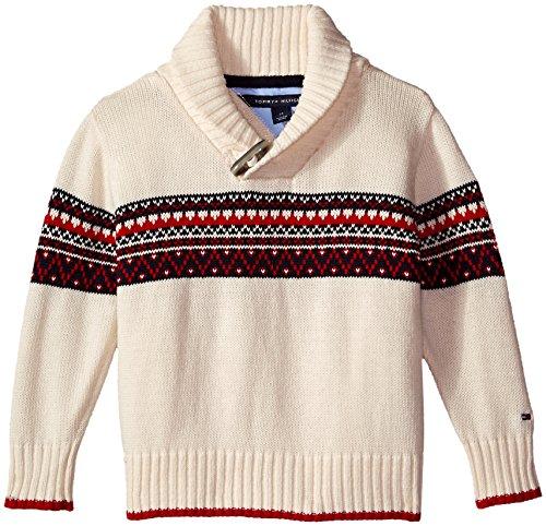 Amazon.com: Tommy Hilfiger Boys' Long Sleeve Fair Isle Sweater ...