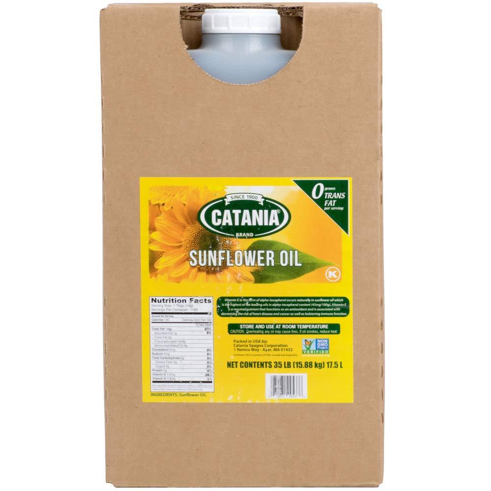 Catania 100% Non-GMO Sunflower Oil - 35 Ib by Catania