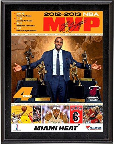 LeBron James Miami Heat 4 Time NBA MVP Framed Collage 10