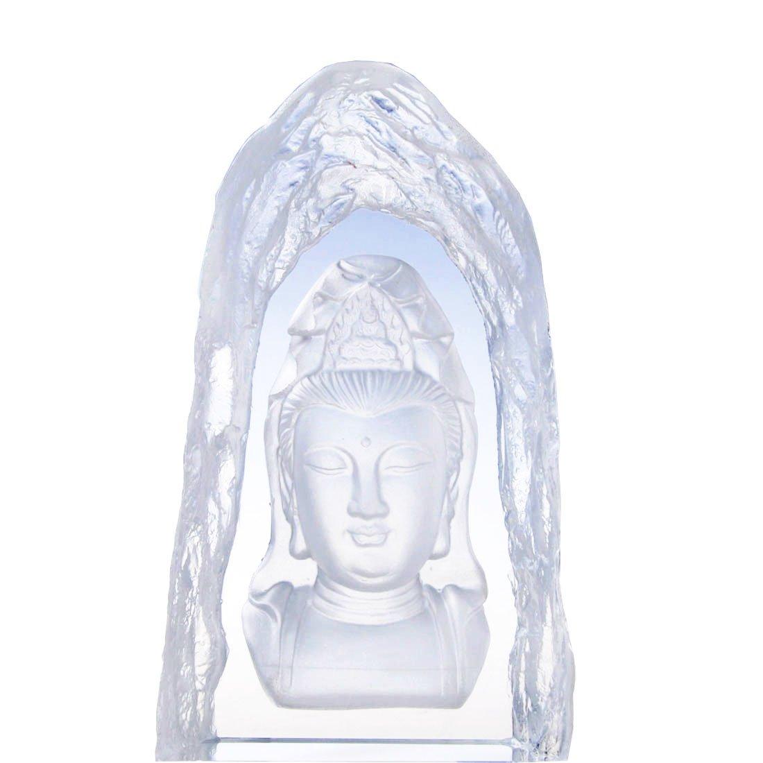 H&D Buddhist Goddess Kuan-yin (Guanyin) Decorative Figurine 7.84.6 inch