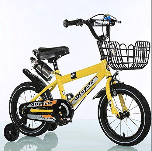 Web oficial amarillo YYHSND Bicicletas para niños 16 Pulgadas Bicicletas Bicicletas Bicicletas para niños Cochecitos de Acero de Alto Carbono de 4 a 7 años Bicicletas para hombres y mujeres, azul amarillo Bicicleta (Color   amarillo)  tomar hasta un 70% de descuento