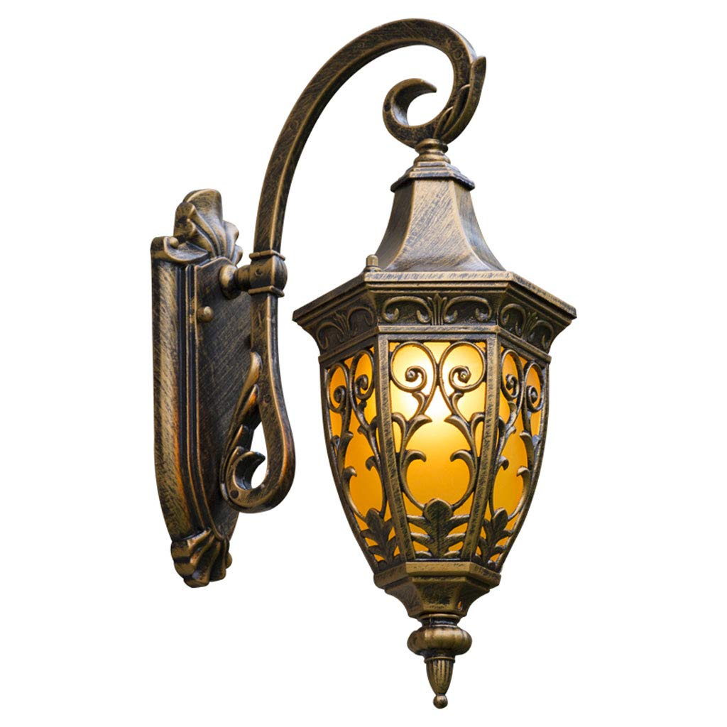 Wandlampe Retro Aluminium wasserdichte Innenwandleuchte im Freien, geeignet für Villa Dekoration Landschaft Hof Balkon Flur Gang Tür Frontbeleuchtung A+ (Farbe   Bronze)