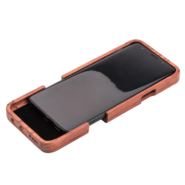 515b49426ae Funda Galaxy S9 Plus Madera, Carcasa Galaxy S9 Plus,ZXK CO Fundas Protectiva  Caja Ampliar imagen