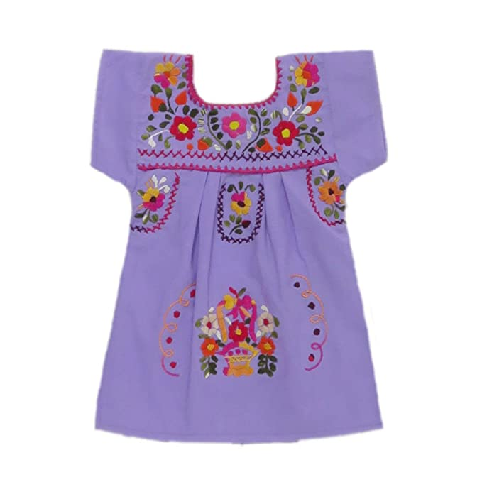 427d2c2157e Amazon.com  Mexican Clothing Co Baby Girls Mexican Dress Traditional  Tehuacan Poplin CT  Clothing