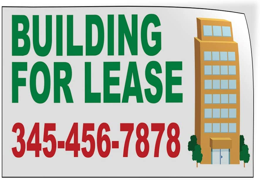 Custom Door Decals Vinyl Stickers Multiple Sizes Building for Lease Phone Number B Business for Lease Outdoor Luggage /& Bumper Stickers for Cars Green 52X34Inches Set of 5