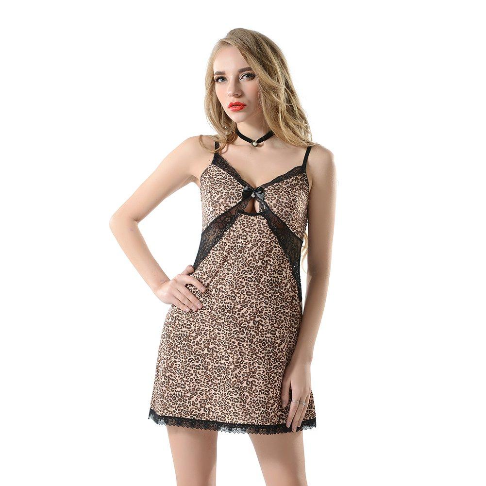 Mujer Lencería Cordón Transparente Muñecas Bebe Ropa Interior Pijama Leopard Print: Amazon.es: Ropa y accesorios