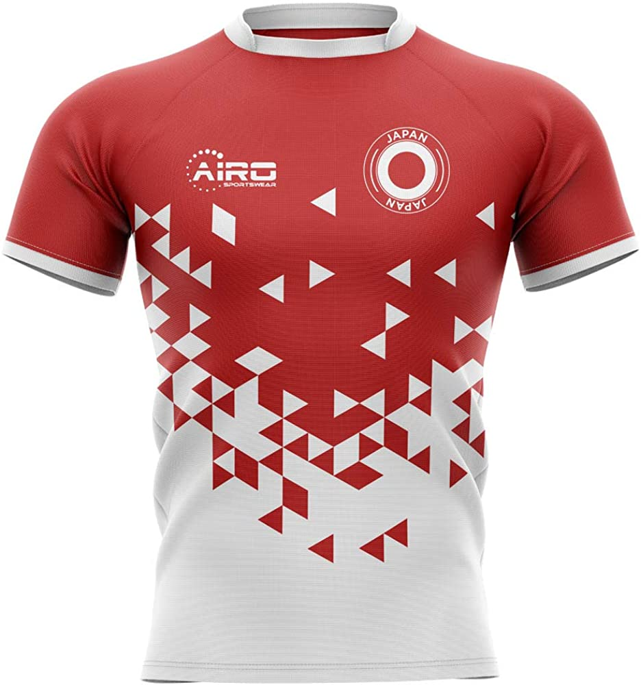 Airosportswear 2020-2021 Japan Home Concept Rugby Football Soccer T-Shirt Jersey - Womens