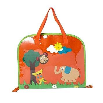 e2b509209f1 Li ll Pumpkins Jungle Plastic Orange Drawing Bag  Amazon.in  Bags ...