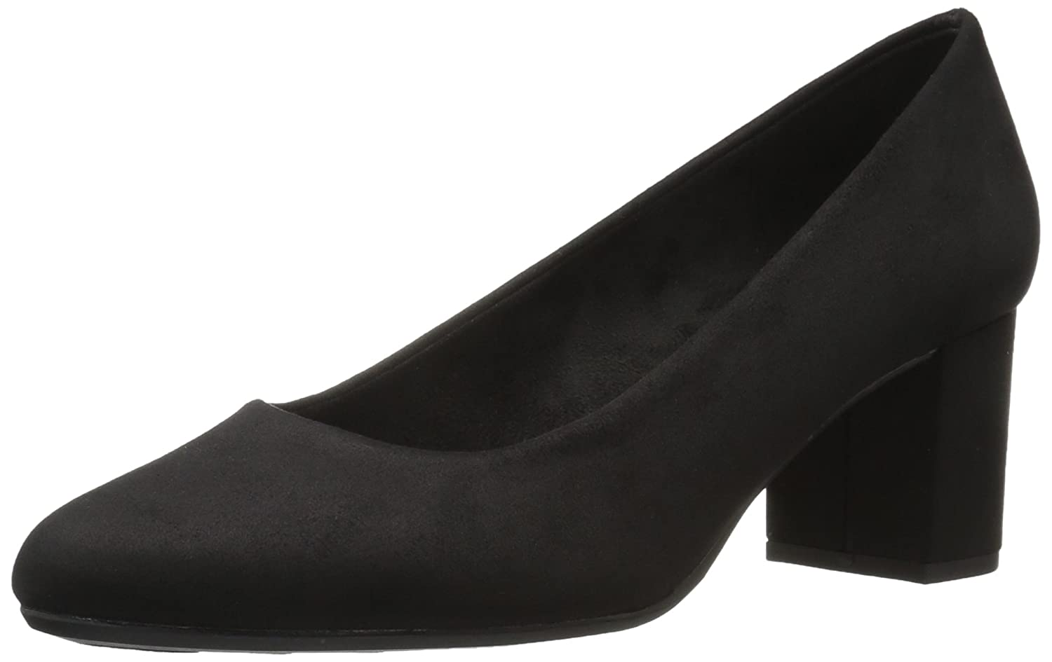 Easy Street Women's Proper Dress Pump B072Q1TMRW 7 W US|Black Super Suede