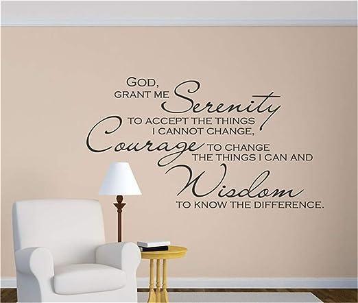 "GOD GRANT SERENITY PRAYER QUOTE DECAL STICKER VINYL WALL ART BEDROOM HOME 36/"""