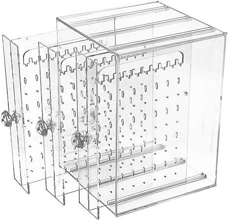 Caja Pendientes Caja Almacenamiento de Joyería de Acrilico ...