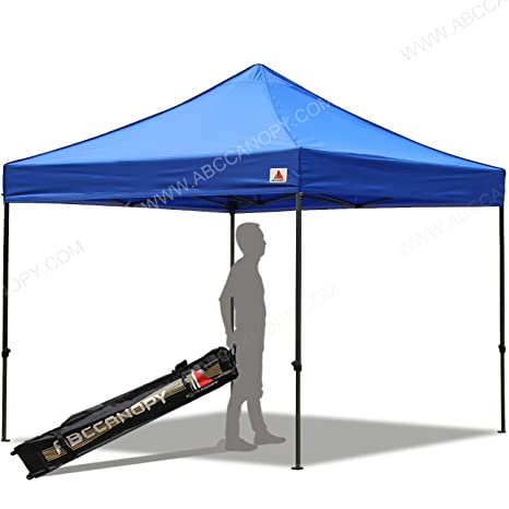 timeless design 2224d 1271d ABCCANOPY 3x3 Pop up Gazebo Instant Canopy Commercial Outdoor Canopy with  Wheeled Carry Bag(blue)