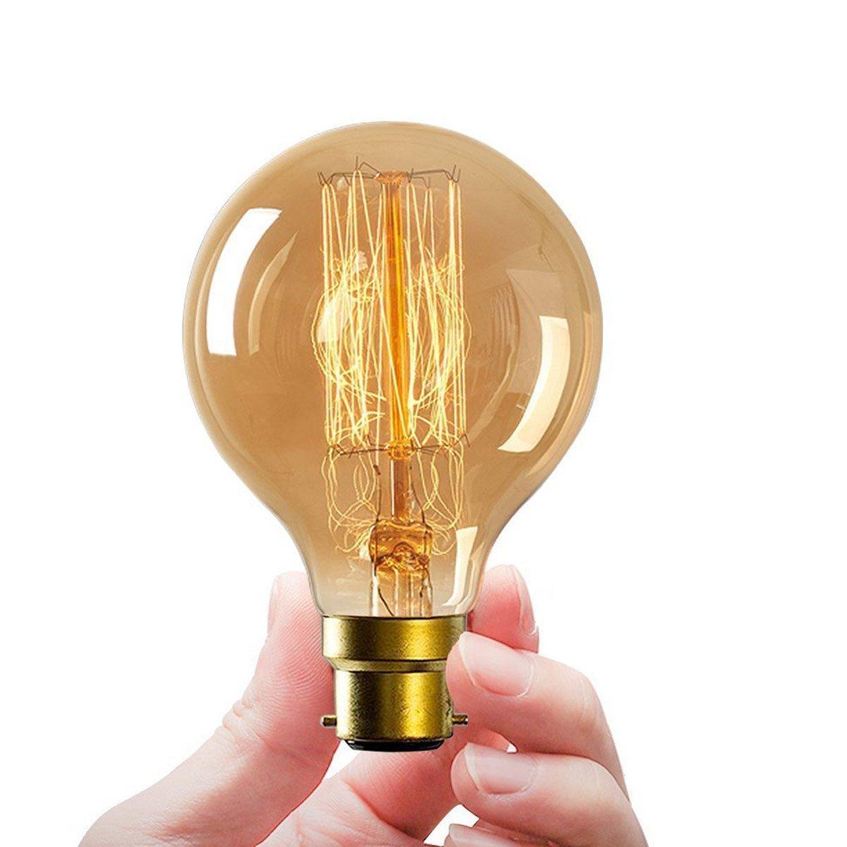 Ampoules Edison vintage G80 B22 60 W /à filament /à ba/ïonnette