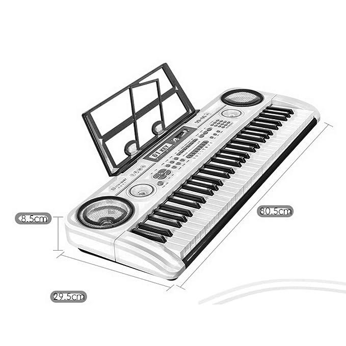 DUWEN Teclado para niños Tutorial de autoestudio de 6 a 10 años Principiante Fundación Zero (con soporte para micrófono + piano) (Color : Pink): Amazon.es: ...
