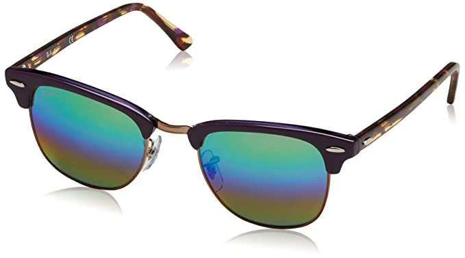 Ray-Ban Men s Clubmaster Non-Polarized Iridium Square Sunglasses, Metallic  Medium Bronze, c458c1a219