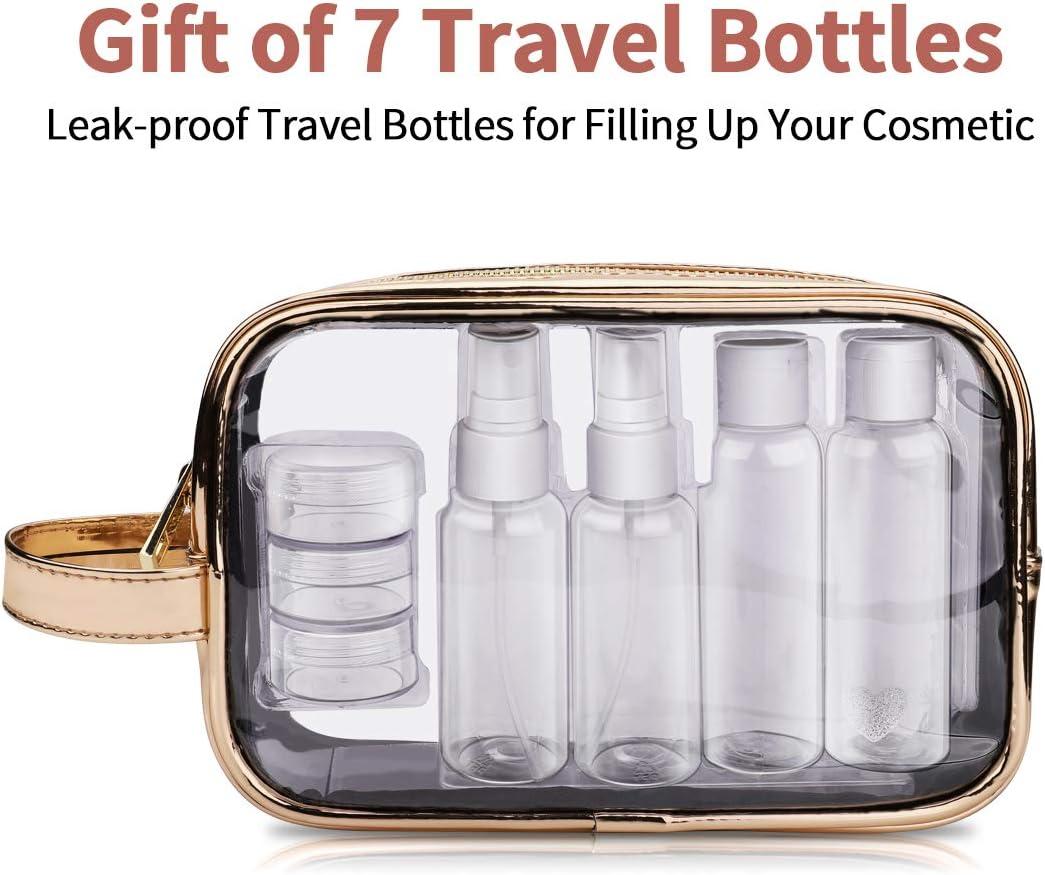 Neceser tranparente Morpilot con 7 envases de viaje por sólo 5,79€ usando el #código: JBSUQU83
