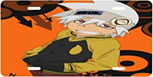 Eliphs Soul Eater Aluminum Fashion License Plate, Used to Decorate Car License Plate, Metal Novelty License Plate 612 Inches