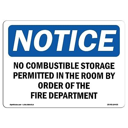 Letreros de Osha Notice - no se permite almacenamiento en ...