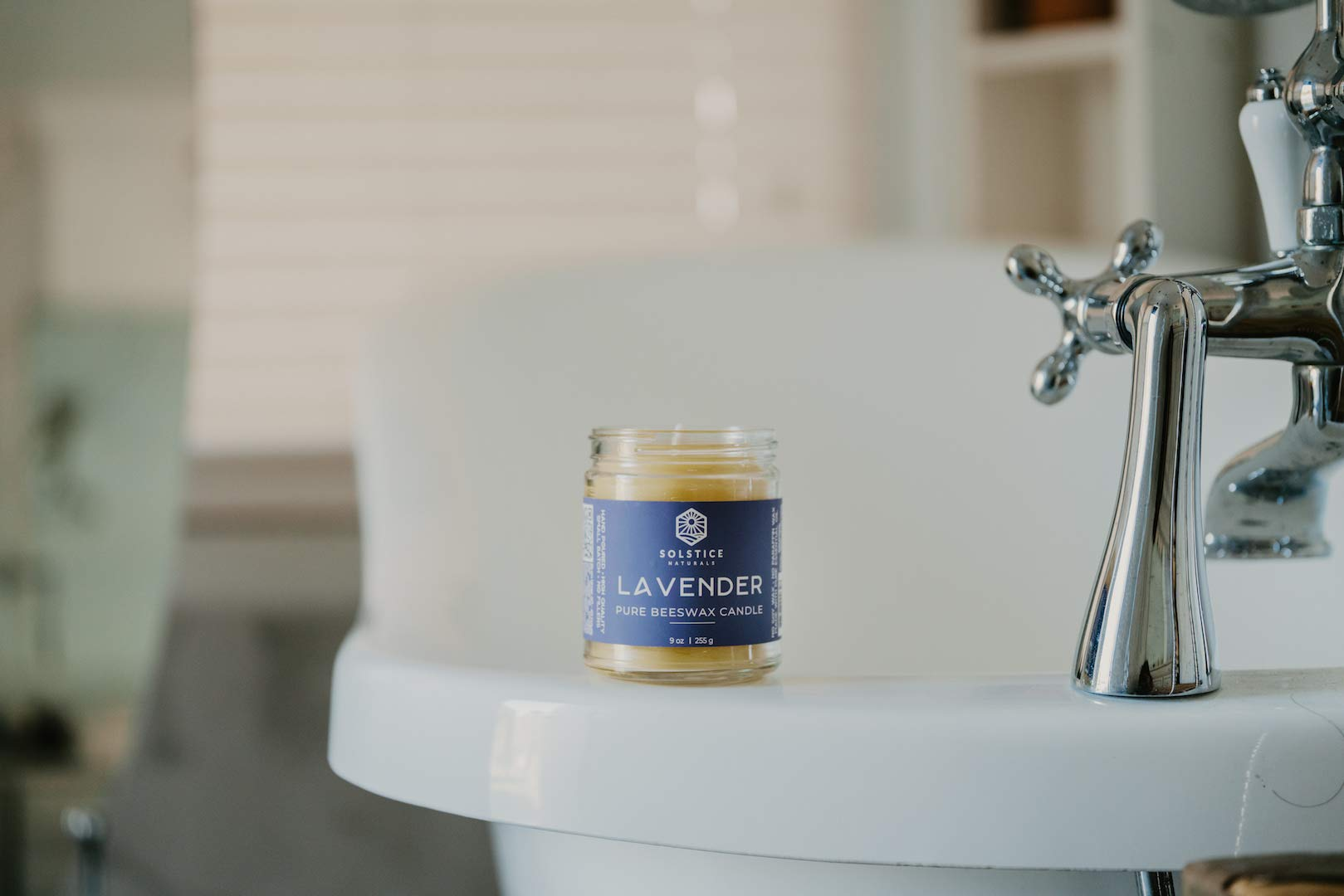 Lavender Scented All Natural 100% Pure Beeswax Aromatherapy Candle Made with Essential Oil, 9 oz - Great for Home Bathroom Living Room Office Study Yoga Spa by Solstice Naturals (Image #6)