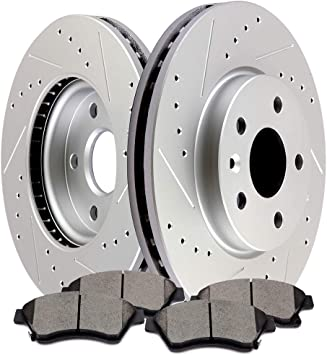 2012 2013 Chevrolet Orlando Front /& Rear Brake Rotors and Pads
