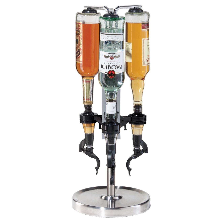 Oggi Professional 3-Bottle Revolving Liquor Dispenser