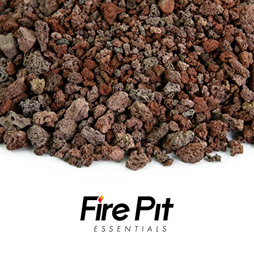"Fire Pit Essentials 10-pound 3/8"" Small Red Lava Rock for..."