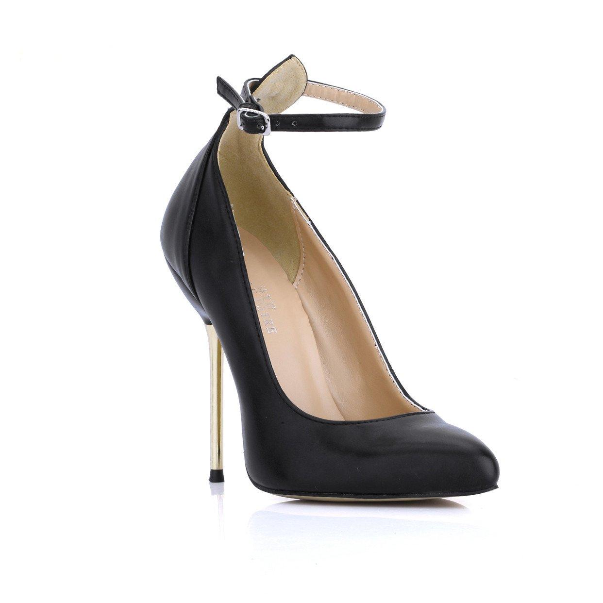 Noir Chaussures femmes le tempérament et le printemps nouveau noir bout pointu chaussures à haut talon sexy et le dîner sur un fond rouge chaussures US8.5   EU39   UK6.5   CN40