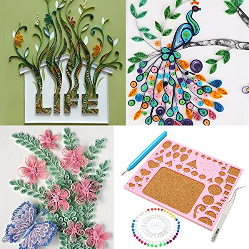 Kitchen Set Quilling: Creations Paper Quilling Kit Tweezer Board Needles Slotted