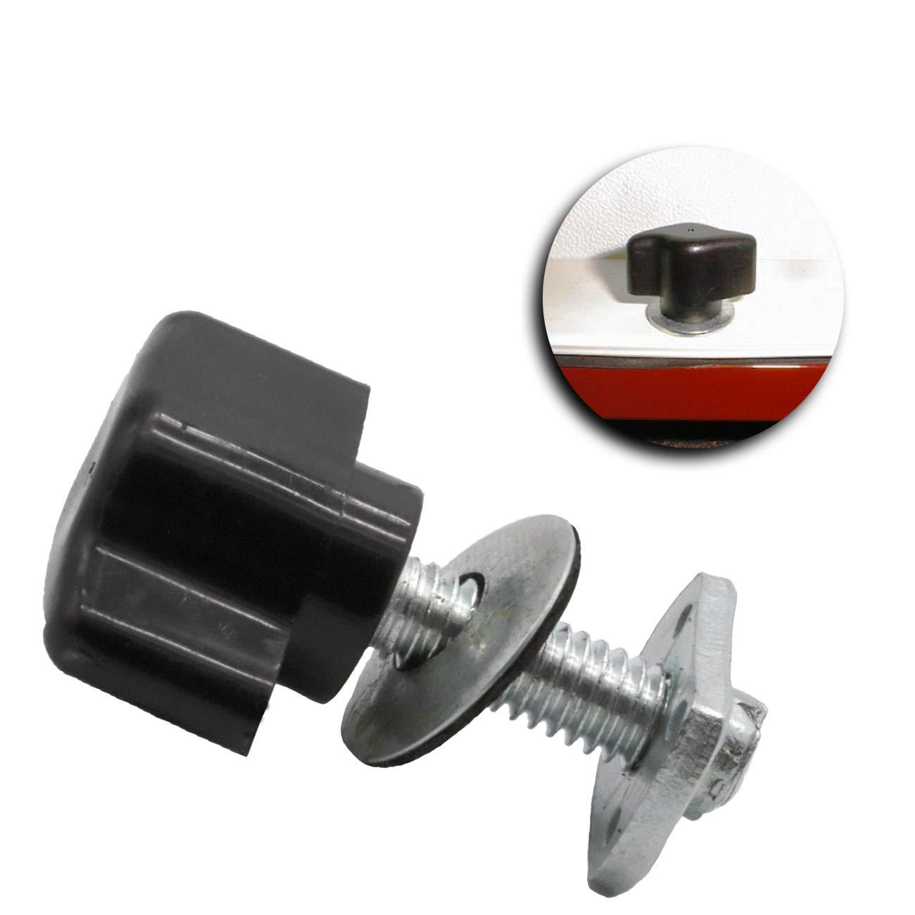 Black MFC Universal 8 Pcs Hard Top Quick Removal Fastener Thumb Screw and Nut Kit for 1995-2019 Jeep Wrangler YJ TJ JK JL Sports Sahara Freedom Rubicon X /& Unlimited X 2 Door 4 Door