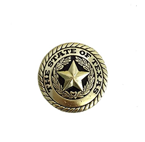 Amazon com: AJ Tack Wholesale State of Texas Seal Round Concho