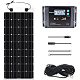 Renogy 100 Watt 12 Volt Solar Marine Kit with Ultra Flexible Solar Panel, Waterproof Charge Controller, and Temperature Sensor