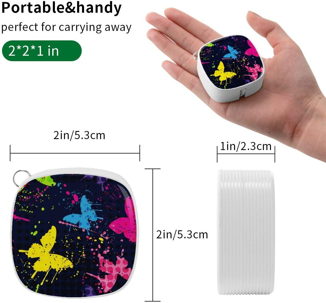 Abstract Butterflies Pattern 3 in 1 Multi-Purpose Retractable Fast Charger Cable,for Android,Tpye-C,Etc