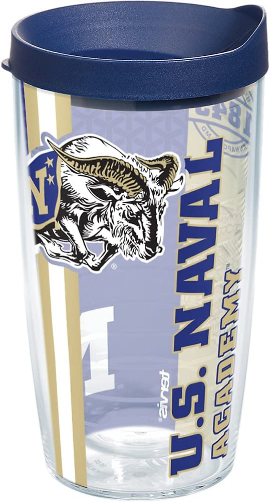 Clear Tervis 1220704 Pittsburgh Panthers Tumbler with Emblem and Navy Lid 10oz Wavy