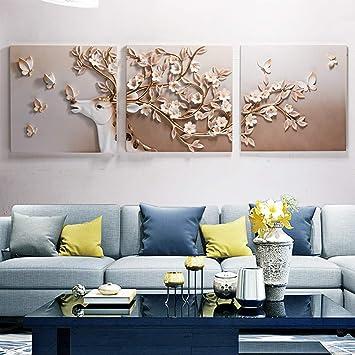 triple relief peinture en relief dcoration murale en relief peinture dcorative salon moderne