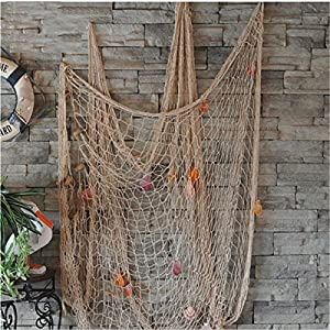 6112A8Ea0PL._SS300_ Nautical Fish Net Decor
