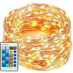 66FT 200 LED String Lights With Remote For Indoor/Outdoor Decor, MZD8391 Wedding Lights, Patio Lights, Copper Wire String Lights, Bedroom Lights, Backyard Lights, Warm White