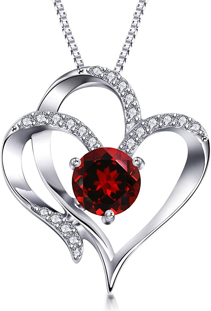 Sterling Silver Center Heart Cubic Zirconias Silver Heart necklace N680002 Show Me the Love Necklace Gold Heart necklace Heart Charm