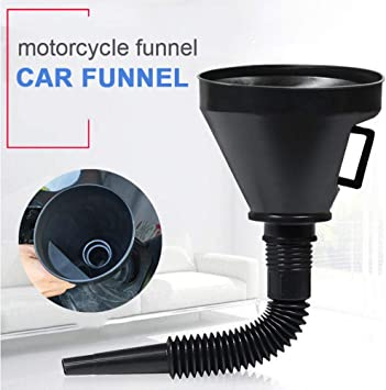 Plastic Funnel Can Spout For Oil Water Fuel Petrol Diesel Gasoline For Auto WM
