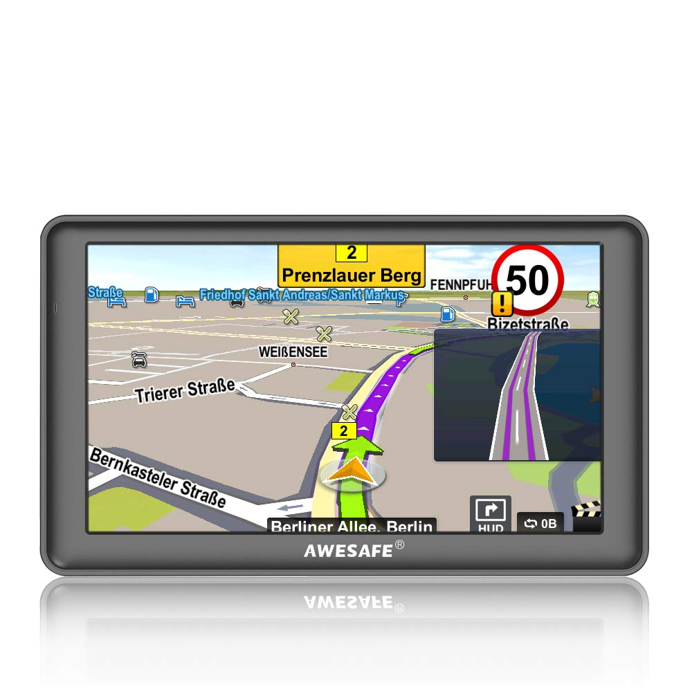 GPS Navigation for Car, AWESAFE 7 inches Touch Screen 8GB Navigation System for Cars Lifetime North America Map Updates AS-CA-N1-A1