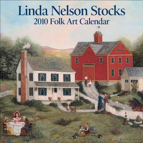 - Linda Nelson Stocks Folk Art: 2010 Mini Wall Calendar