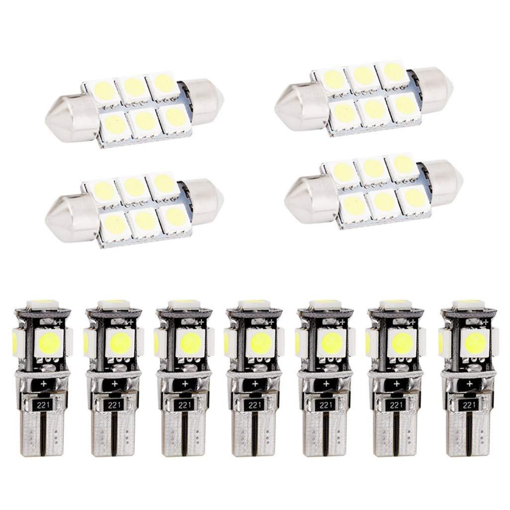 Per A6 LED Super Luminosi Bianco Lampadine per Luci Interne Auto Per Porte Interne di Auto Luci di Lettura Luci Plafoniera Luce Targa LED Canbus Senza Errori 13 Pezzi