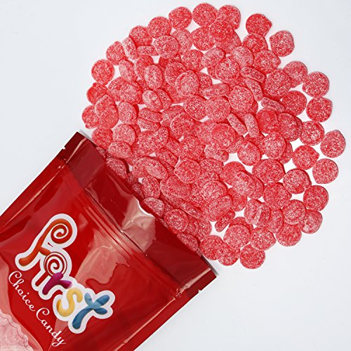 FirstChoiceCandy Sour Patch Cherry Red Slices Sweet & Sour Gummy Candy Bulk 2 LB Resealable Gift Bag