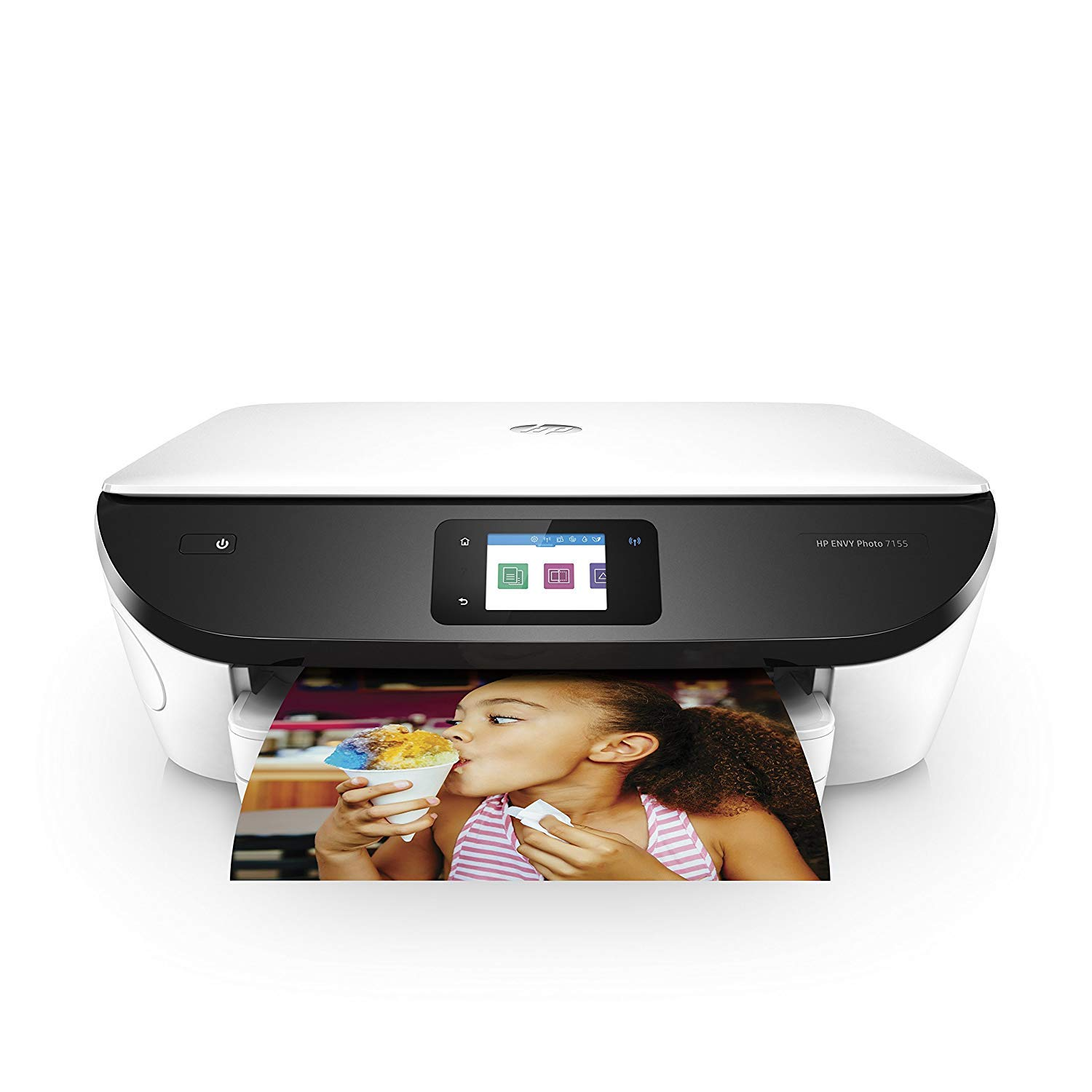 HP ENVY Photo 7155 All in One Photo Printer with Wireless Printing, HP Instant Ink & Amazon Dash Replenishment ready - White with Std Ink Bundle