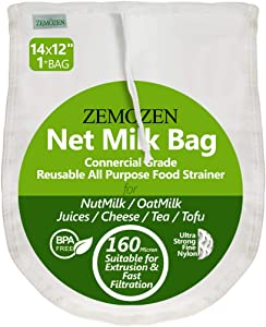 160 Micron Pro Quality Nut Milk Bag for Straining Reusable - 14